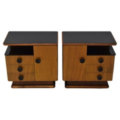 Pair of Mid-Century Night Tables, Designed by Jindrich Halabala, 1950's