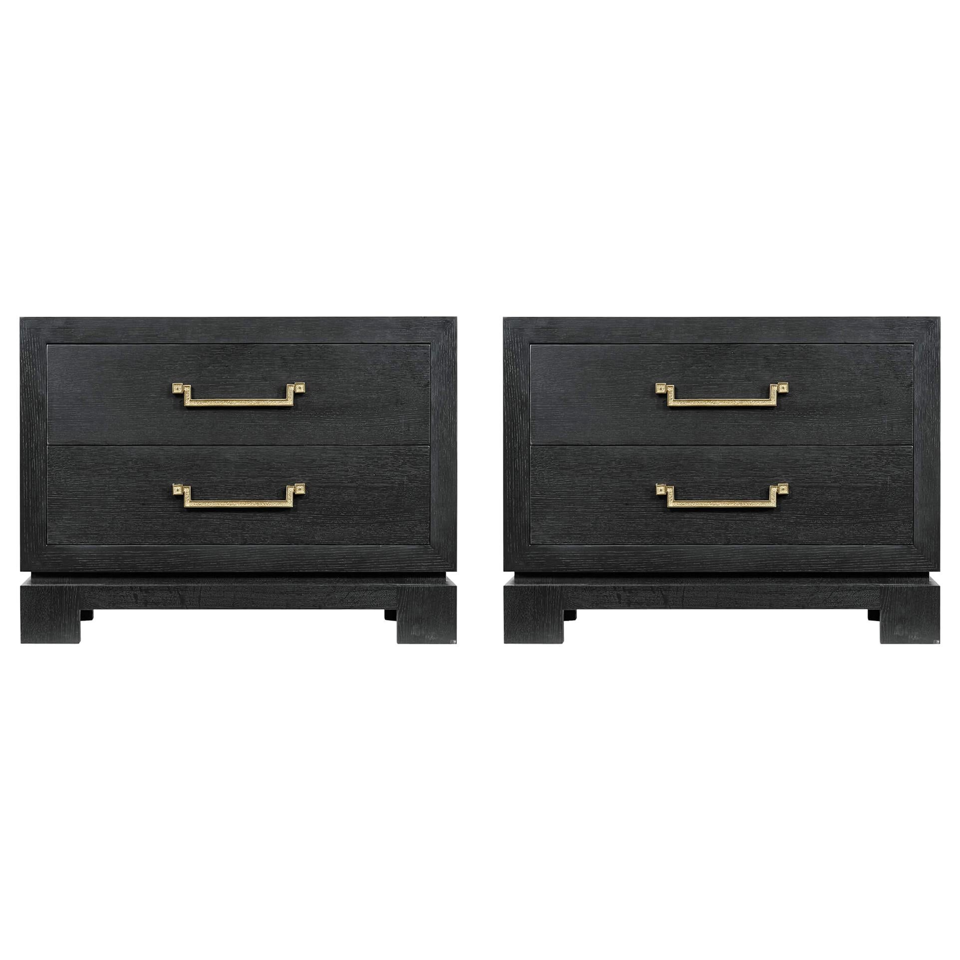 Pair of Midcentury Nightstands