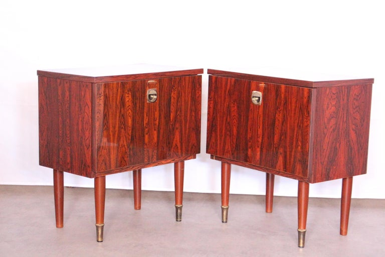 Pair of French side cabinet midcentury, circa 1970