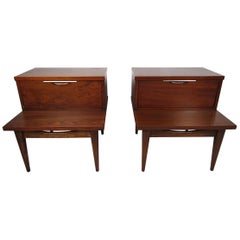 Pair of Midcentury Nightstands, Kent Coffey's Tableau Line
