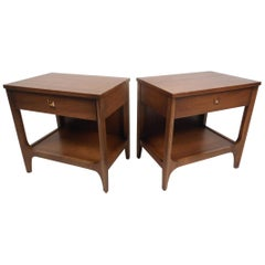 Pair of Midcentury Nightstands or End Tables by Broyhill