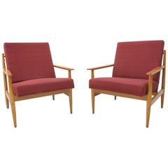 Pair of Midcentury Scandinavian Style Armchairs by TON, 1970s