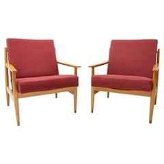 Pair of Mid Century Scandinavian Style Armchairs by TON, 1970´s