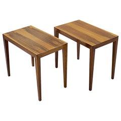 Pair of Mid-Century Side Tables by Severin Hansen Danish, Circa 1950