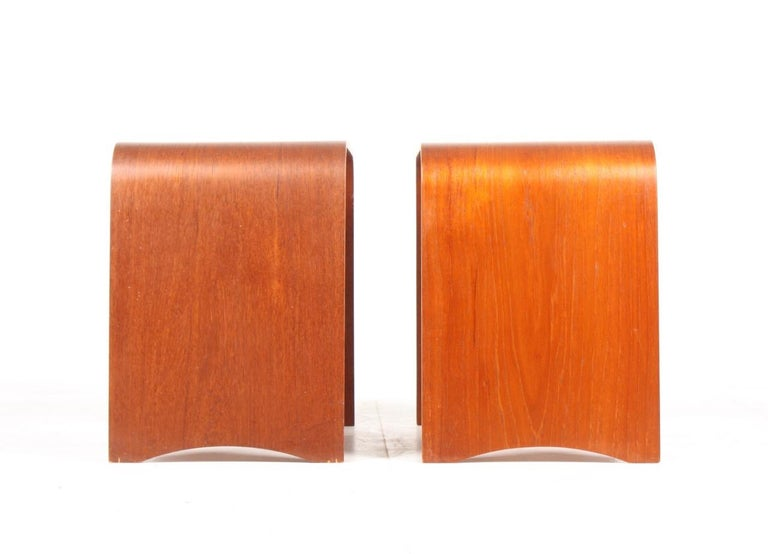 Mid-20th Century Pair of Midcentury Side tables in Teak by Fritz Hansen, Made in Denmark, 1960s For Sale