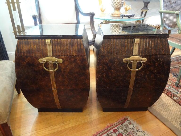 American Pair of Mid-Century Signed John Widdicomb Nightstands For Sale