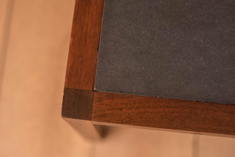 Pair of Midcentury Slate and Walnut End Tables by Jack Cartwright for Founders For Sale 5
