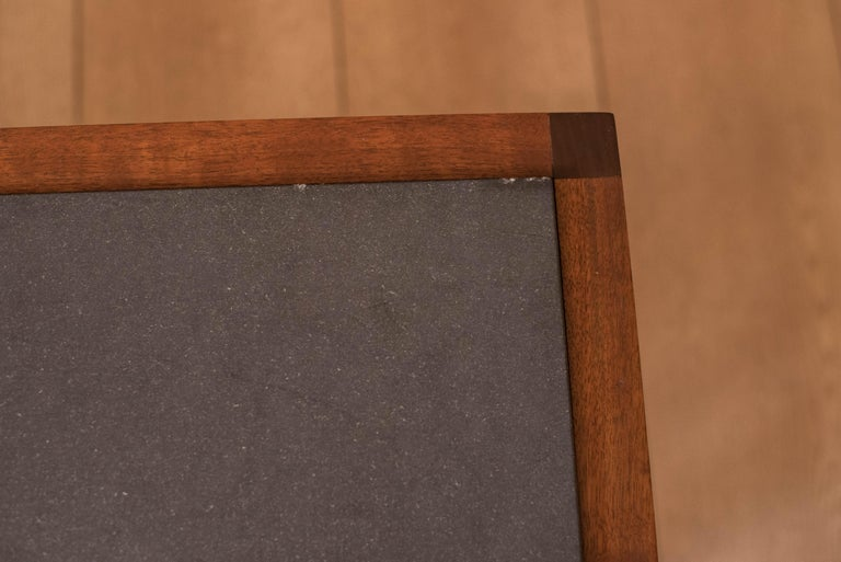Pair of Midcentury Slate and Walnut End Tables by Jack Cartwright for Founders For Sale 6