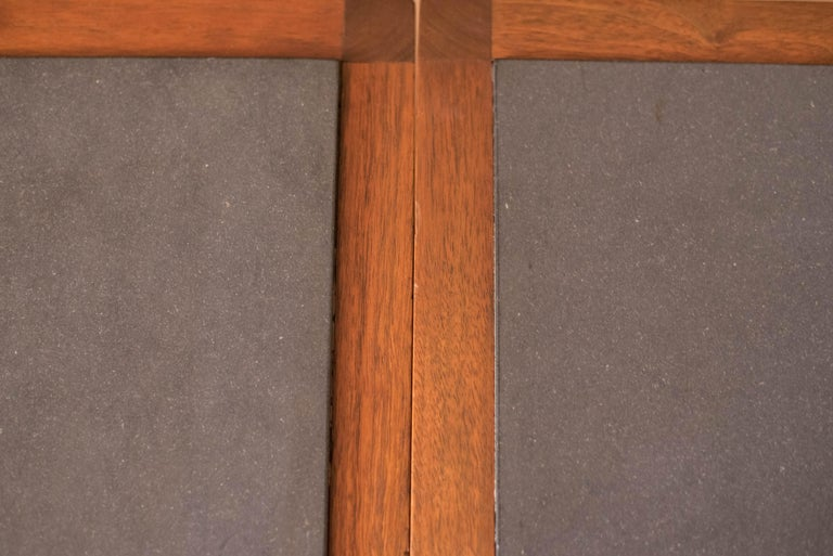 Pair of Midcentury Slate and Walnut End Tables by Jack Cartwright for Founders For Sale 8