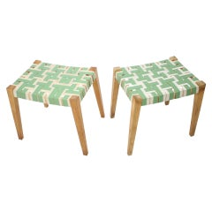 Pair of Midcentury Stools or Tabourets, 1950s