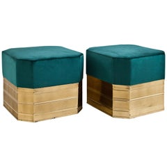 Pair of Midcentury Stools, Probably Italy