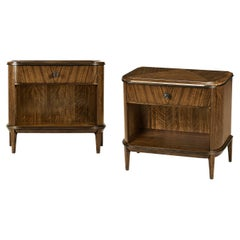 Pair of Mid Century Style D Form Nightstands