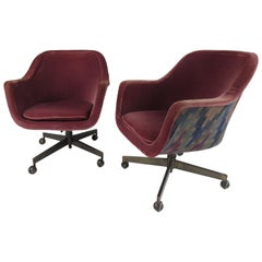 Pair of Midcentury Swivel Desk Chairs