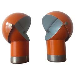 Pair of Midcentury Table Lamps Designed by Pavel Grus, Kamenicky Senov, 1960s