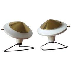 Pair of Midcentury Table Lamps Mushrooms, 1960s