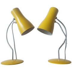 Pair of Midcentury Table Lamps Napako Designed by Josef Hurka, 1970s