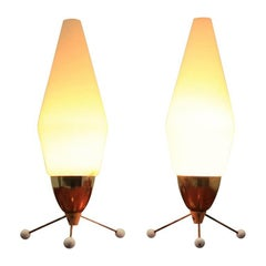 Pair of Mid Century Table Lamps, Rocket, Kamenicky Senov, Stanislav Kučera, 1970