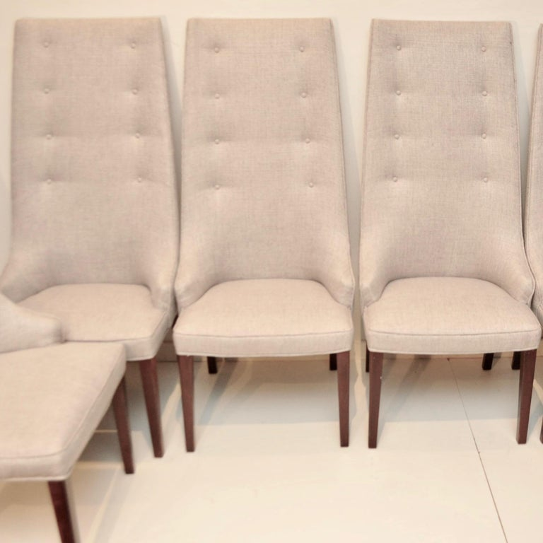 Pair of Midcentury Tall Back Dining Chairs from Denmark 2