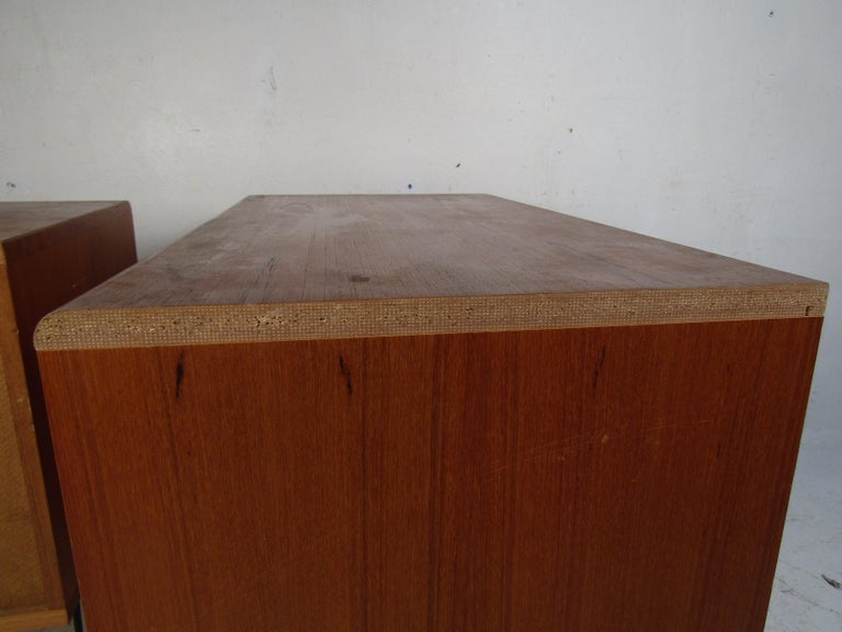 Pair of Midcentury Teak Cabinets with Hairpin Legs For Sale 8