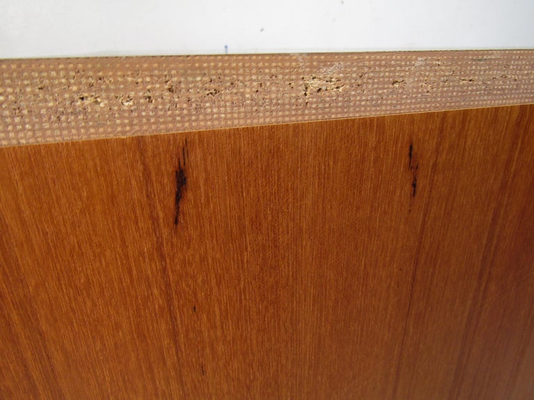 Pair of Midcentury Teak Cabinets with Hairpin Legs For Sale 9