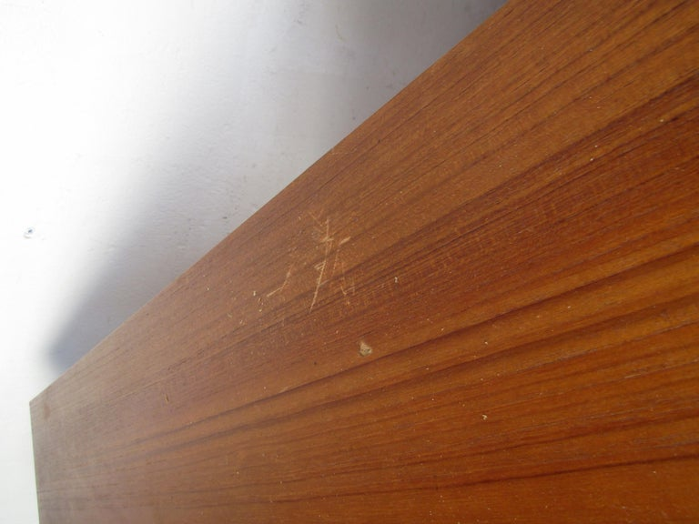 Pair of Midcentury Teak Cabinets with Hairpin Legs For Sale 4