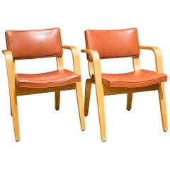 Pair of Midcentury Thonet Bentwood Armchairs, circa 1950