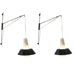 Pair of Mid century Wall Lamps Designed by Josef Hejtman, 1970s