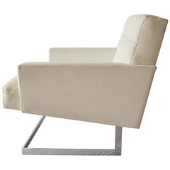 Pair of Mid-Modern Lounge Armchairs in Leather, 1960s