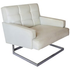 Pair of Mid Modern Lounge Armchairs in Leather, 1960s