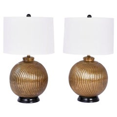 Pair of Midcentury Anglo-Indian Table Lamps