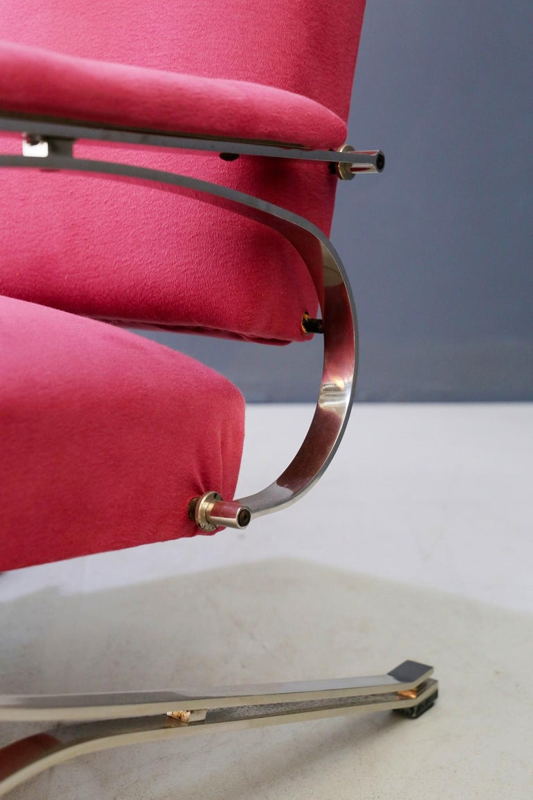 Metal Pair of Midcentury armchair