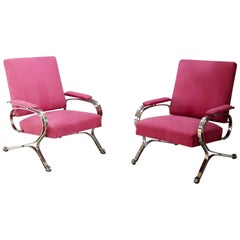 "Pair of Midcentury armchair ""Micaela"" by Gianni Moscatelli for Formanova, 1970s"