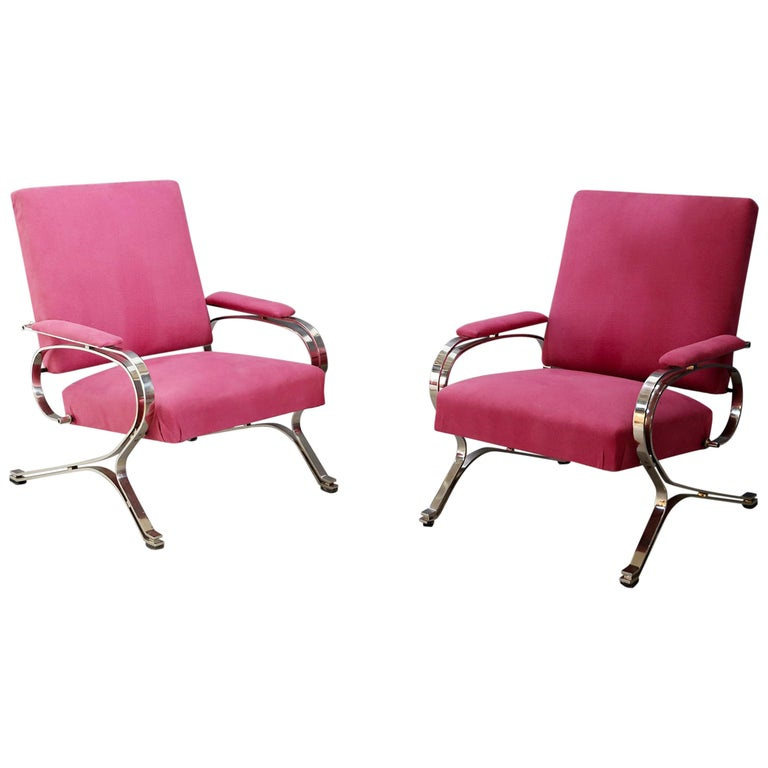"""Pair of Midcentury armchair """"Micaela"""" by Gianni Moscatelli for Formanova, 1970s For Sale"""