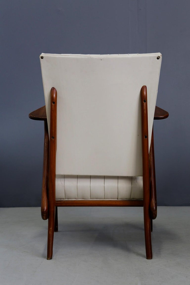 Pair of Midcentury Armchairs by Giuseppe Scapinelli in Solid Wood, 1950s For Sale 6