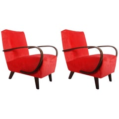 Pair of Midcentury Armchairs by Jindrich Halabala