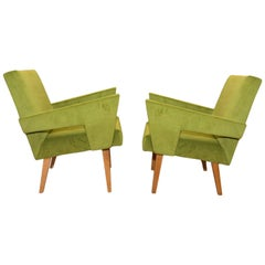 Pair of Midcentury Armchairs by Jitona, 1960s, Czechoslovakia