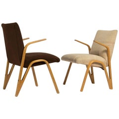 Pair of Midcentury Armchairs by Paul Bode for Deutsche Federholzgesellschaft