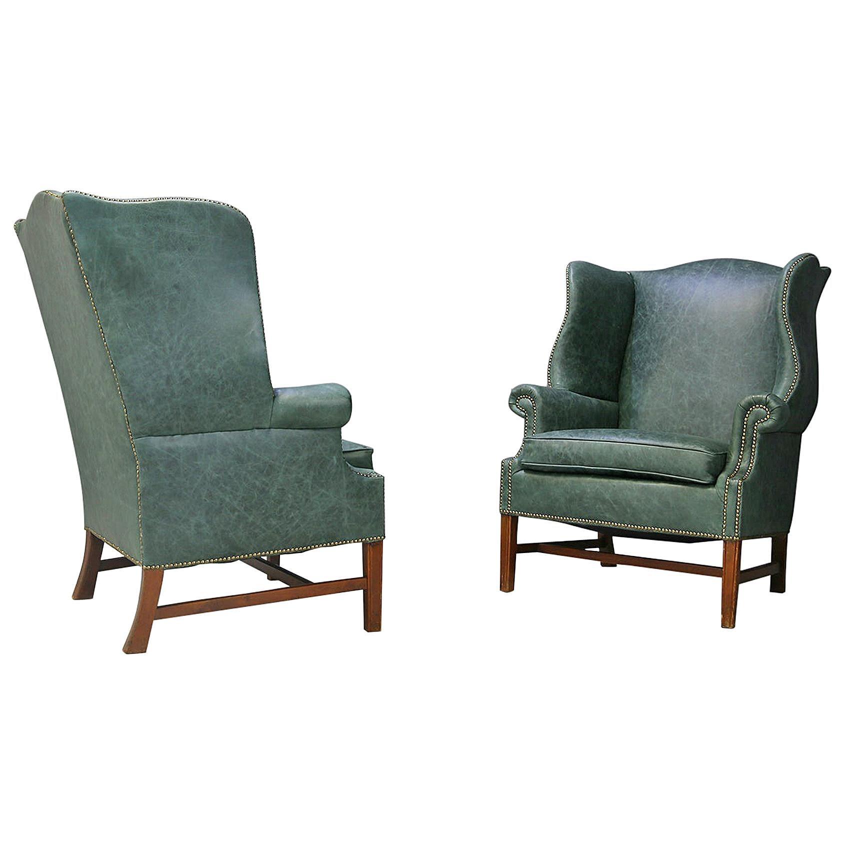 Pair of Midcentury Armchairs by Peter Hvidt & Orla Mølgaard Nielsen Wingback