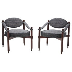 Pair of Midcentury Armchairs by Raffaella Crespi for Mobilia, Italy, 1960s