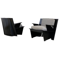Pair of Midcentury Armchairs by Umberto Riva Model, Arighi for Poltronova, 1986