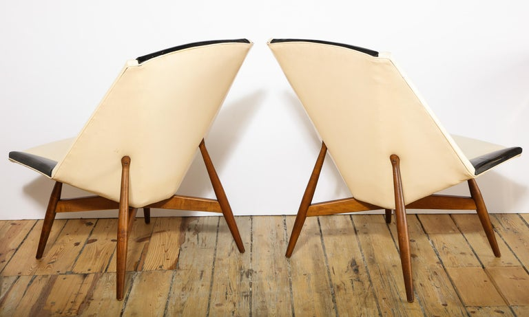 Pair of Midcentury Armchairs For Sale 4