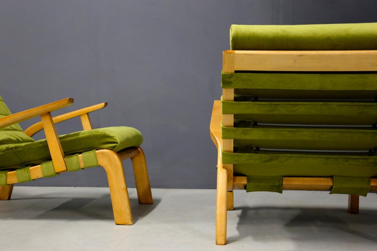Pair of Midcentury Armchairs Gustavo Pulitzer and Giorgio Lacht, 1930s For Sale 6