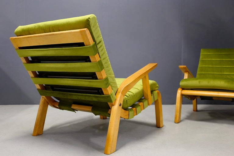 Mid-Century Modern Pair of Midcentury Armchairs Gustavo Pulitzer and Giorgio Lacht, 1930s For Sale