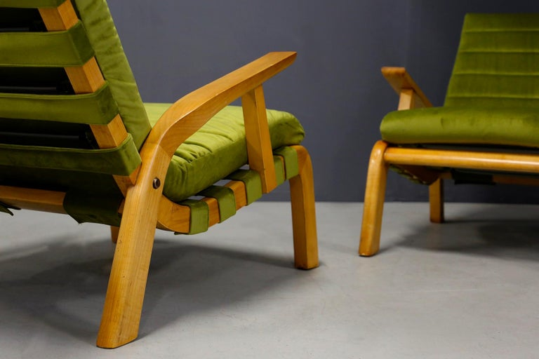 Italian Pair of Midcentury Armchairs Gustavo Pulitzer and Giorgio Lacht, 1930s For Sale