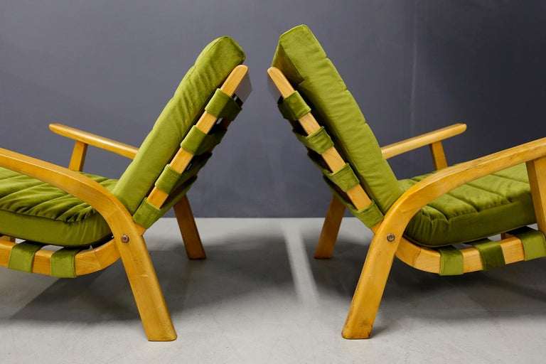 Pair of Midcentury Armchairs Gustavo Pulitzer and Giorgio Lacht, 1930s For Sale 2