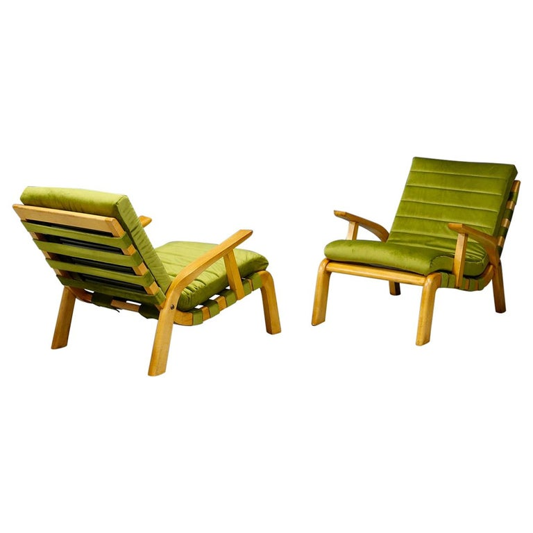 Pair of Midcentury Armchairs Gustavo Pulitzer and Giorgio Lacht, 1930s For Sale