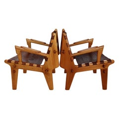 South American Midcentury Armchairs by Angel Pazmino, 1960s, Set of two