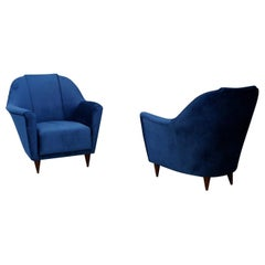 Pair of Midcentury Armchairs attributed to Ico Parisi for Ariberto Colombo, 1950