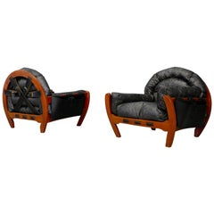 Pair of Midcentury Armchairs 'Rancero' by Luciano Frigerio, 1970s
