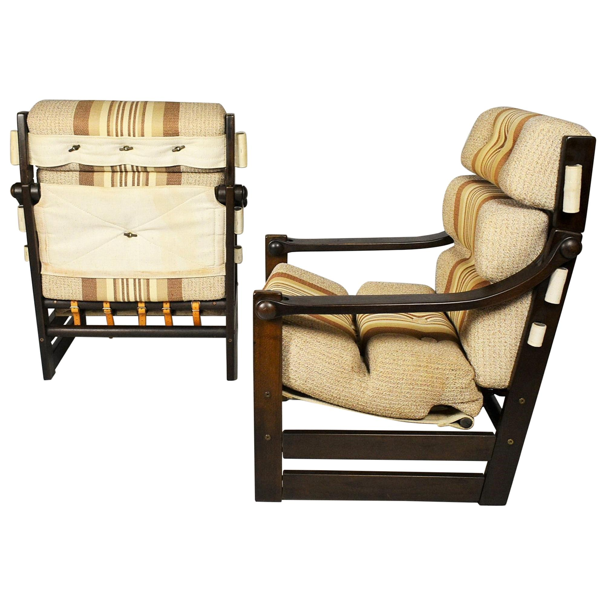 Pair of Midcentury Armchairs, Scandinavian, 1960s